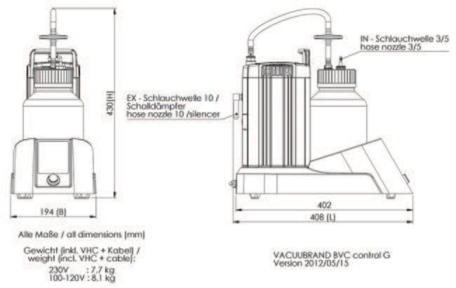 VACUUBRAND™BVC Flüssigkeit-Absaugsysteme für Zellkulturen: Pumpen Pumpen und Schläuche