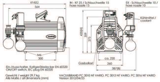 VACUUBRAND™Unidad de bombeo químico PC 3012 NT VARIO™: Pumps Bombas y Tubos