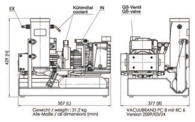 VACUUBRAND™RC 6 Chemistry-HYBRID Pump Includes: CEE Plug VACUUBRAND™RC 6 Chemistry-HYBRID Pump