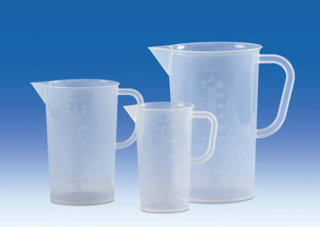 VITLAB™Polypropylene Measuring Beaker Capacity: 100mL; Raised Scale VITLAB™Polypropylene Measuring Beaker