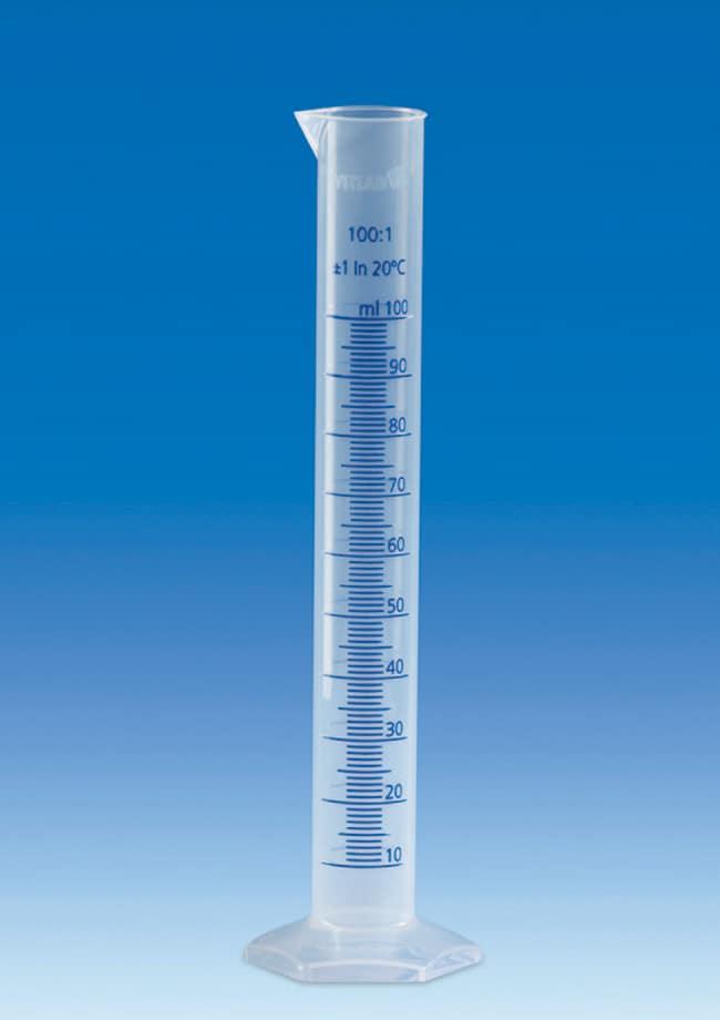 VITLAB™Class B Polypropylene Graduated Cylinders with Raised Blue Scale Capacity: 500mL; Graduation: 5mL VITLAB™Class B Polypropylene Graduated Cylinders with Raised Blue Scale