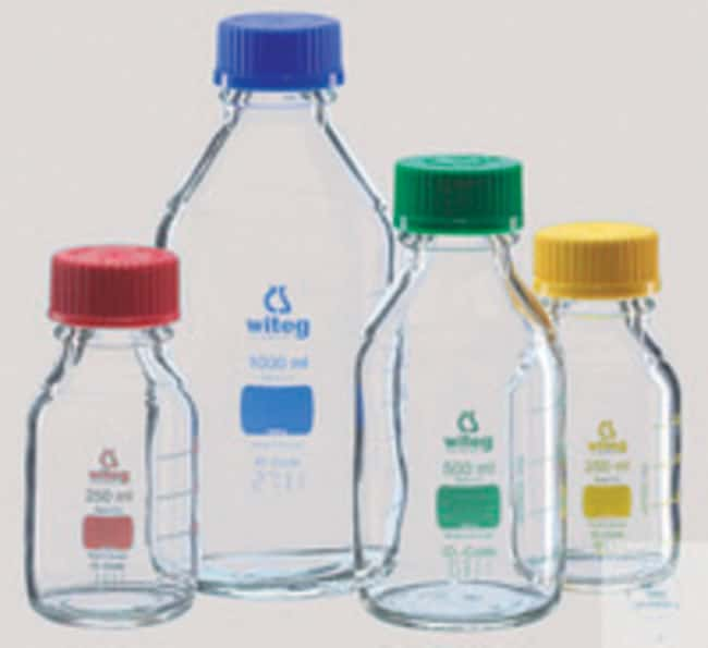 Witeg™Borosilicate Glass Laboratory Bottles with Yellow Screw Cap and Graduation Capacity: 100mL; Color: Yellow products