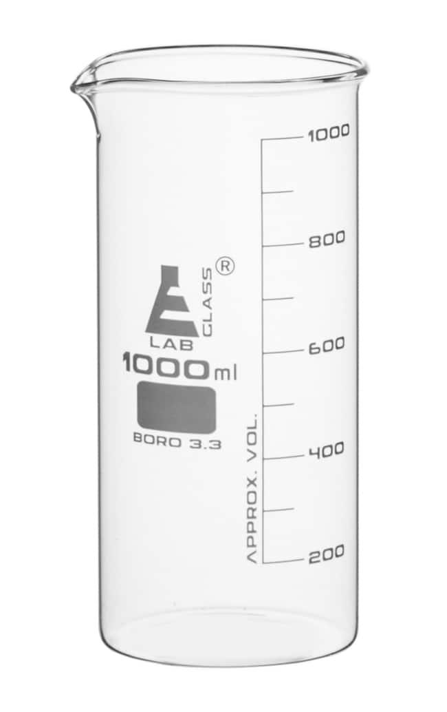 Eisco™Tall Form Borosilicate Glass Beakers
