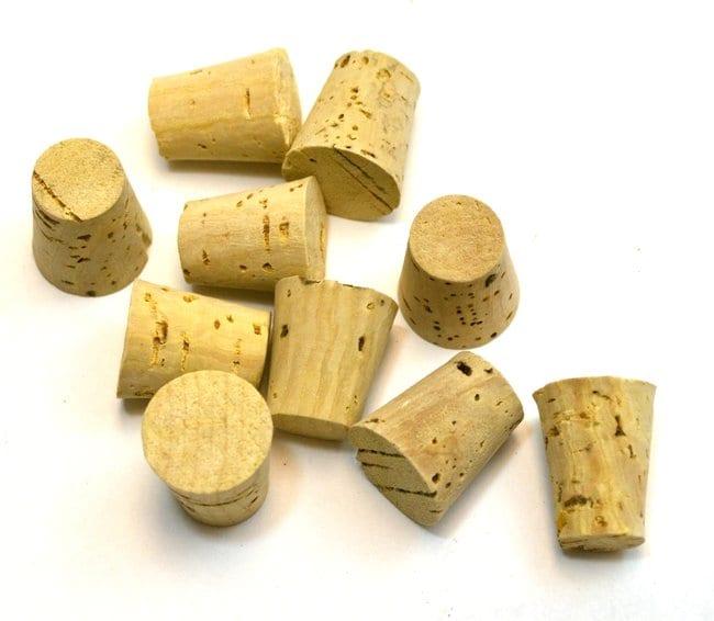 Eisco Bark Cork Stopper  Size no. 5, bottom 12mm, top 17mm, length 22mm:Teaching