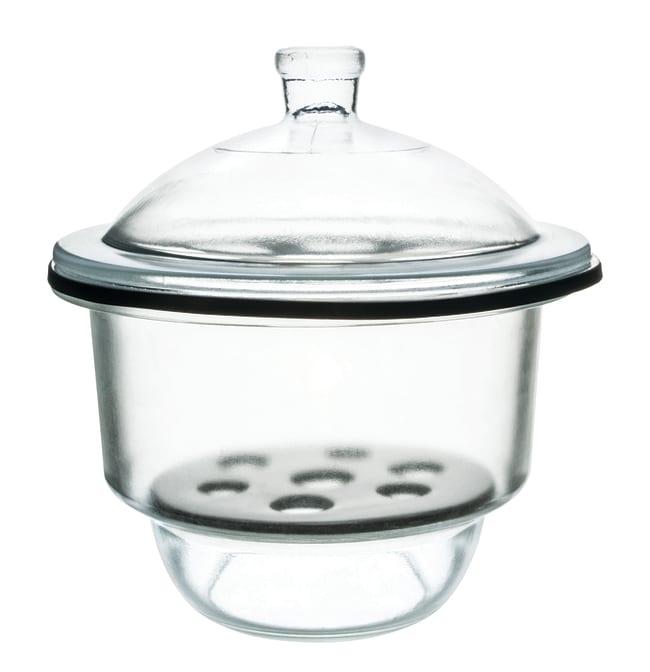 EiscoGlass Desiccator with Porcelain Plate:Desiccators:Vacuum Desiccators