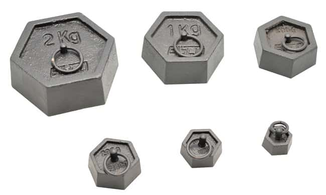Eisco Hexagonal Iron Masses with lifting rings :Balances, Scales and Weighing:Calibration