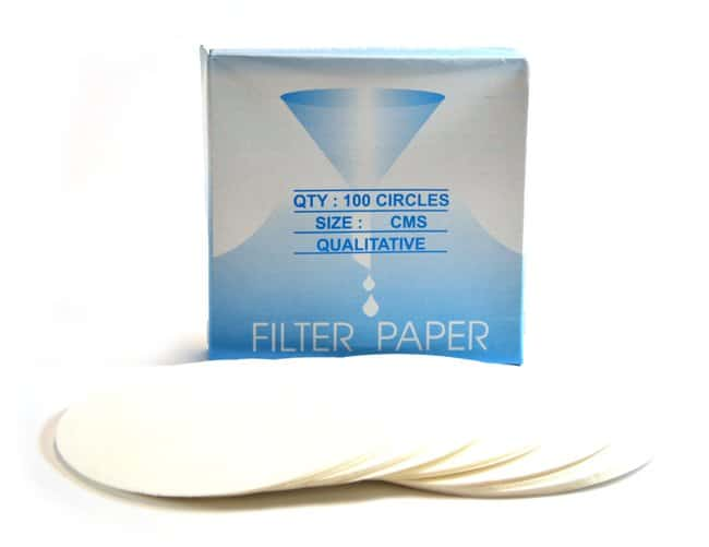 Eisco Round Qualitative Filter Paper :Filtration:Filter Paper