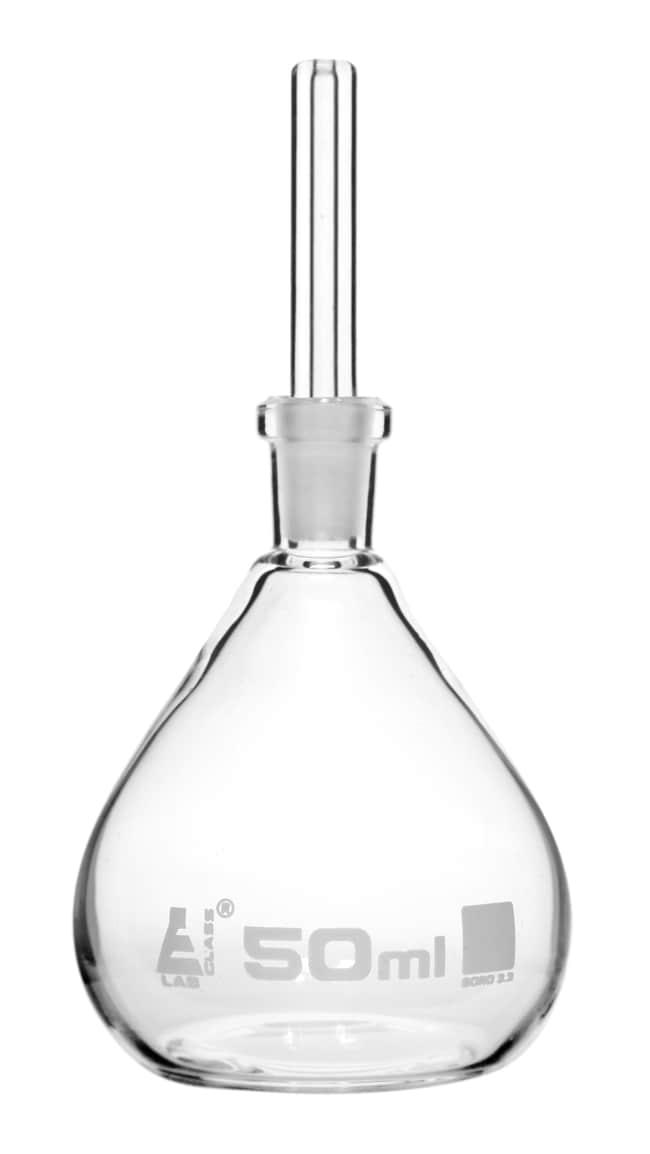 Eisco Borosilicate Glass Specific Gravity Bottle, 50 mL  50 mL:Teaching