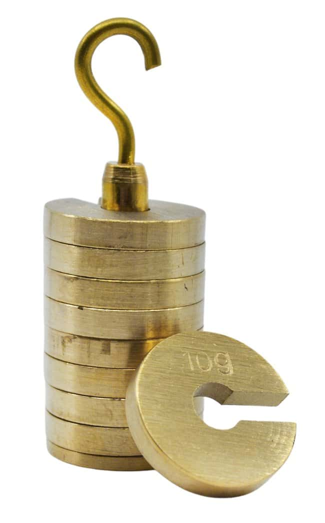 EiscoSlotted Brass Weight Set with Hanger:Education Supplies:General Classroom