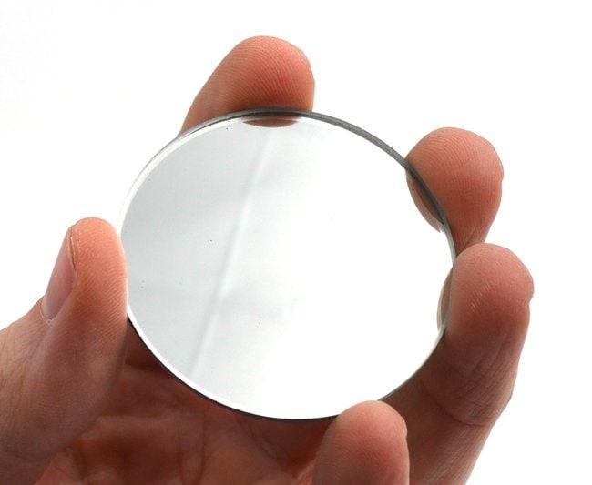 EiscoGlass Convex Mirrors 50 mm, 75 mm, 2 mm:Education Supplies