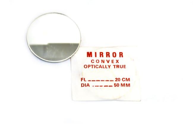 EiscoGlass Convex Mirrors 50 mm, 200 mm:Education Supplies