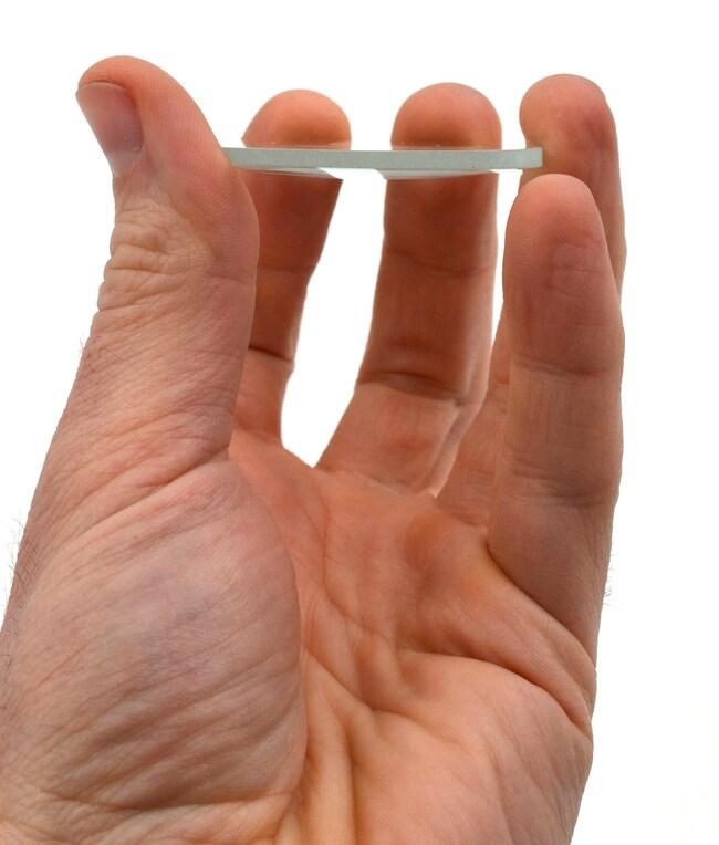 Eisco Glass Plano Convex Lenses  Focal Length: 200 mm:Teaching Supplies
