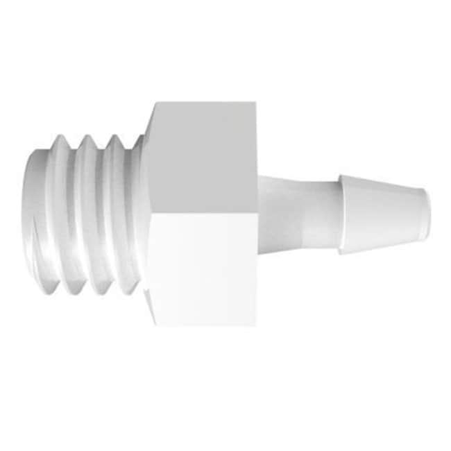 Fisherbrand Adapter with 10-32 UNF Thread x 1/16 in. Barb - Polypropylene