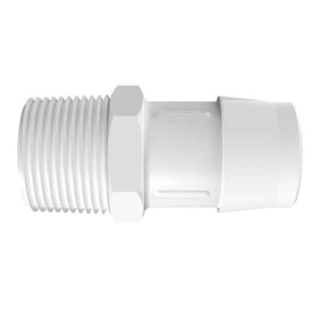Fisherbrand Adapter with 3/4 in. NPT Thread x 1 in. Barb - Polypropylene