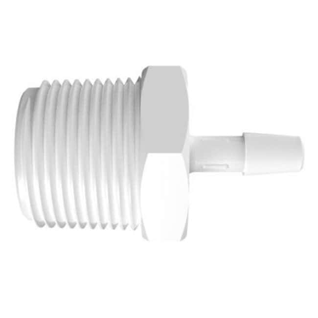 Fisherbrand Adapter with 3/4 in. NPT Thread x 1/4 in. Barb - Polypropylene
