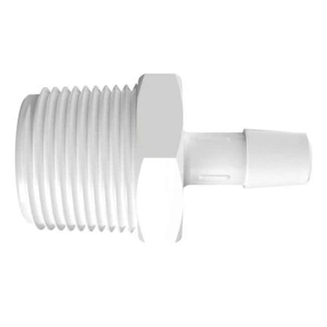 Fisherbrand Adapter with 3/4 in. NPT Thread x 3/8 in. Barb - Natural Kynar