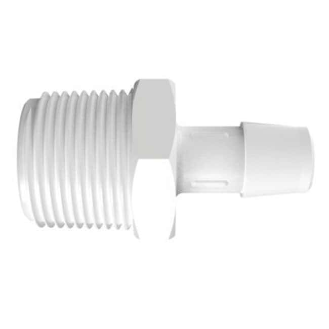 FisherbrandAdapter with 3/4 in. NPT Thread x 1/2 in. Barb - Polypropylene:Pumps