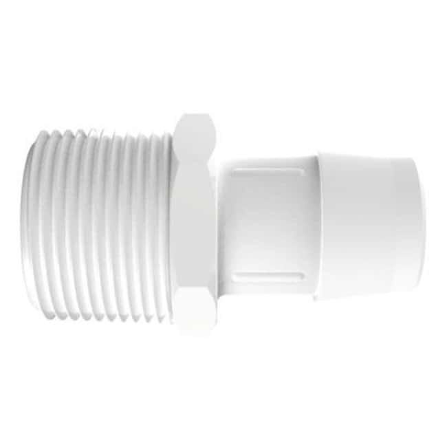 Fisherbrand Adapter with 1 in. NPT Thread x 1 in. Barb - Polypropylene