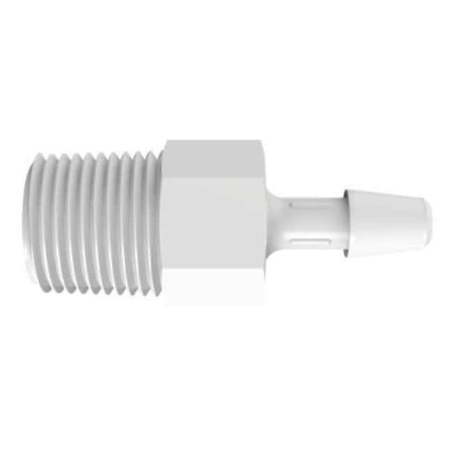 Fisherbrand Adapter with 1/8 in. NPT Thread x 5/32 in. Barb - Natural Kynar
