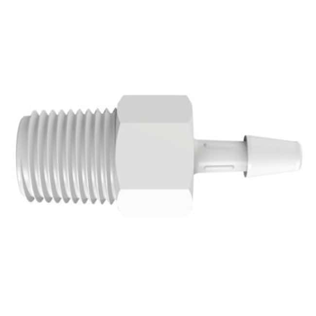 Fisherbrand Adapter with 1/8 in. NPT Thread x 1/8 in. Barb - Natural Kynar