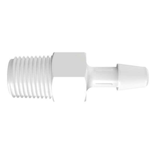 Fisherbrand Adapter with 1/8 in. NPT Thread x 3/16 in. Barb - Natural Kynar