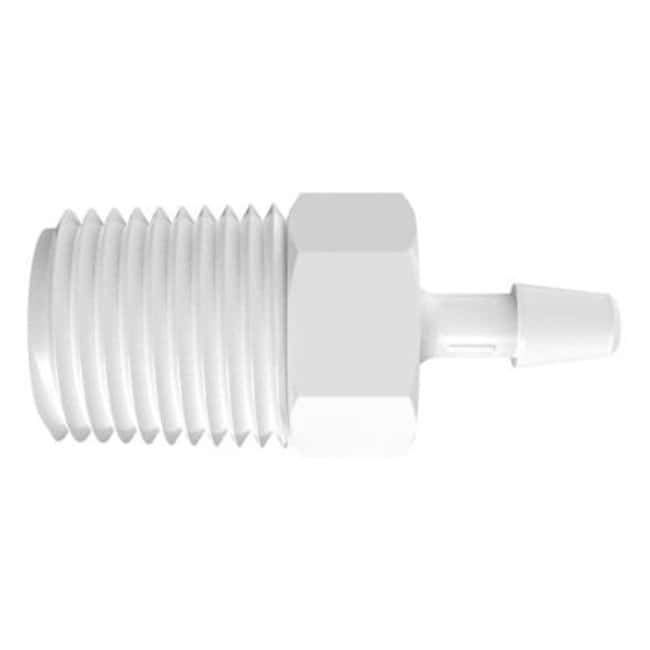 FisherbrandAdapter with 1/4 in. NPT Thread x 5/32 in. Barb - Polypropylene:Pumps