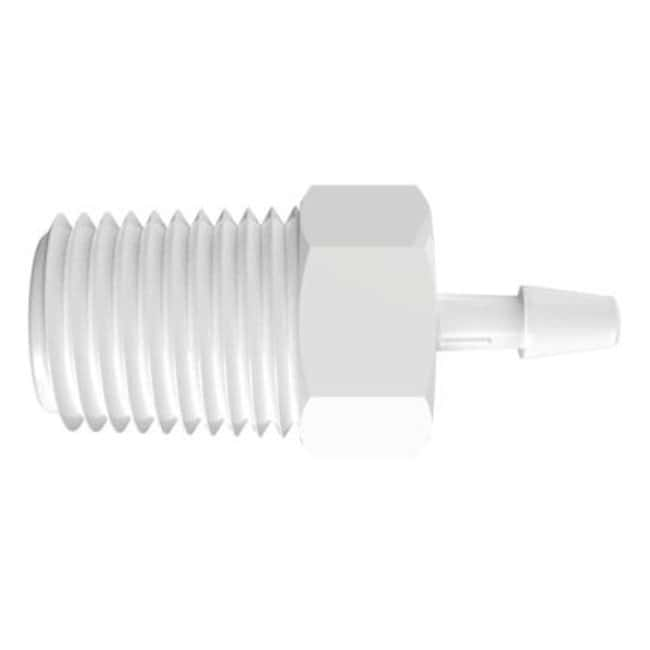 FisherbrandAdapter with 1/4 in. NPT Thread x 1/8 in. Barb - Polypropylene:Pumps