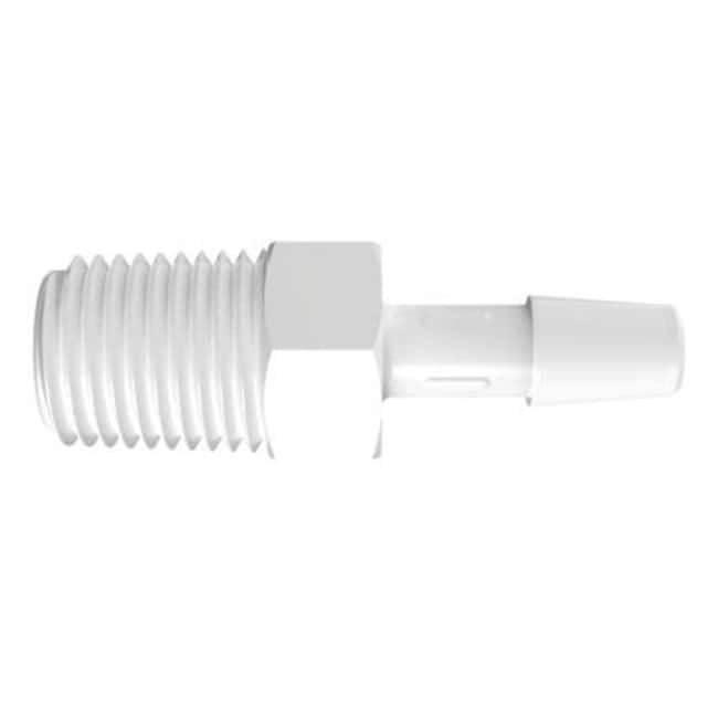 FisherbrandAdapter with 1/4 in. NPT Thread x 1/4 in. Barb - Polypropylene:Pumps