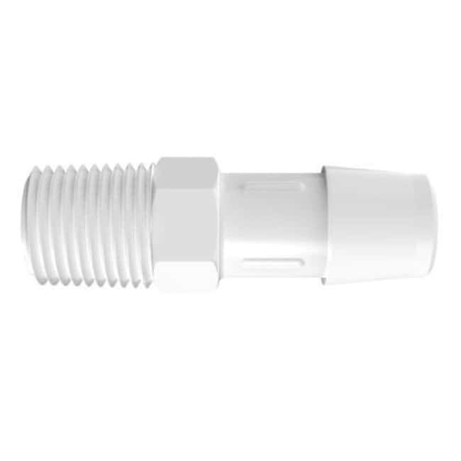 Fisherbrand Adapter with 1/4 in. NPT Thread x 1/2 in. Barb - Polypropylene