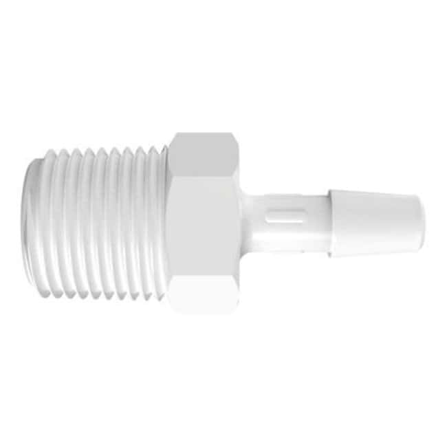 FisherbrandAdapter with 3/8 in. NPT Thread x 1/4 in. Barb - Polypropylene:Pumps