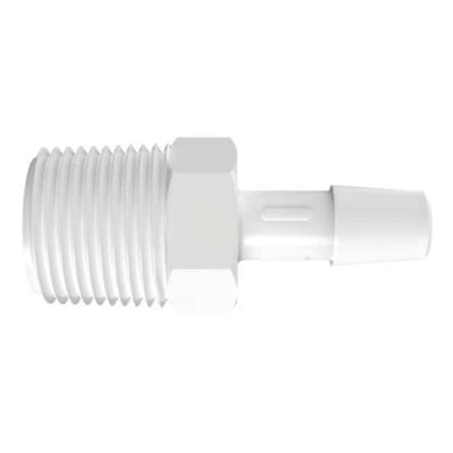 FisherbrandAdapter with 3/8 in. NPT Thread x 5/16 in. Barb - Polypropylene:Pumps