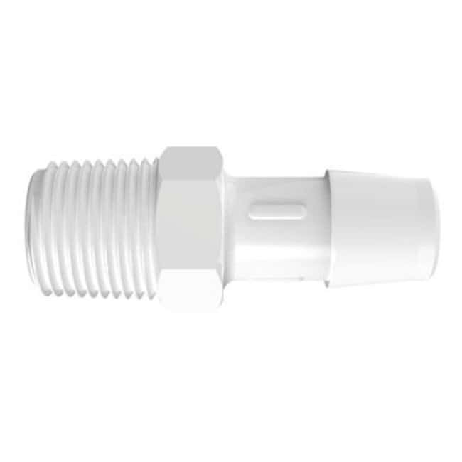 Fisherbrand Adapter with 3/8 in. NPT Thread x 1/2 in. Barb - Natural Kynar