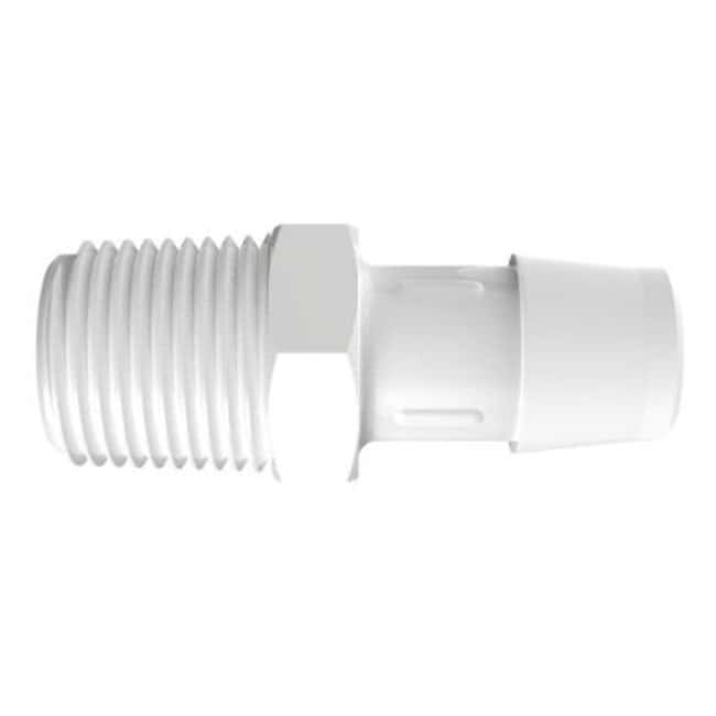 FisherbrandAdapter with 1/2 in. NPT Thread x 5/8 in. Barb - Polypropylene:Pumps