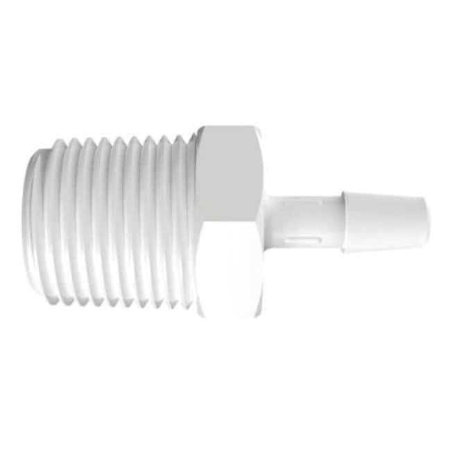 FisherbrandAdapter with 1/2 in. NPT Thread x 1/4 in. Barb - Natural Kynar:Pumps