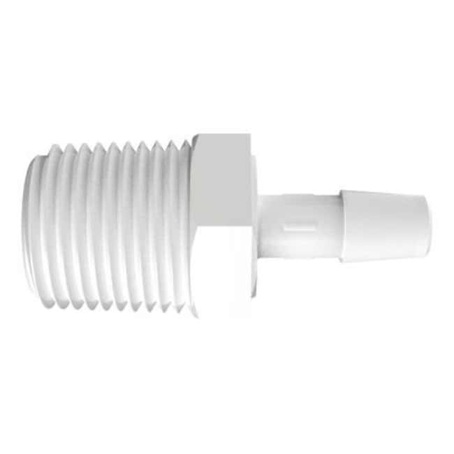 Fisherbrand Adapter with 1/2 in. NPT Thread x 5/16 in. Barb - Natural Kynar