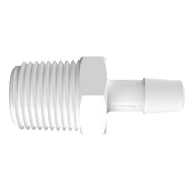 FisherbrandAdapter with 1/2 in. NPT Thread x 3/8 in. Barb - Polypropylene:Pumps