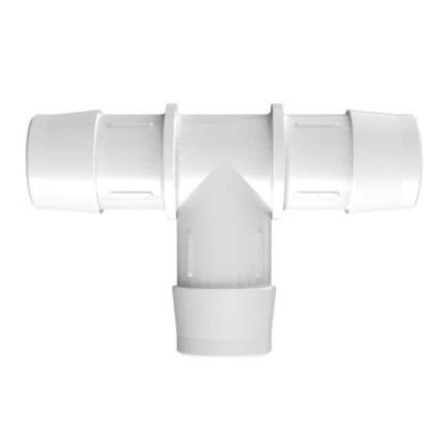 Fisherbrand1 in. ID Equal Tee - Natural Kynar - QC:Pumps and Tubing