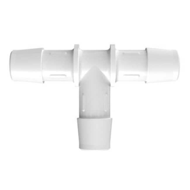 Fisherbrand1/2 in. ID Equal Tee - Natural Kynar - QC:Pumps and Tubing