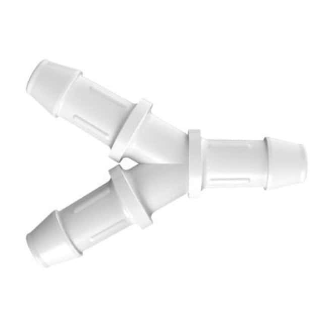Fisherbrand Y Connector with 3/16 in. ID - Natural Kynar - QC :Pumps and