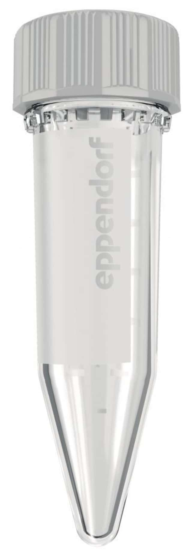 Eppendorf™Tubos Eppendorf ™ de 5.0ml con tapón de rosca Temperature Range (Metric): (-)86°C to 100°C; Color: Clear; Packaging: 200 tubes (2 bags x 100 tubes); Closure style: Screw top; Clean claims: PCR Clean Eppendorf™Tubos Eppendorf ™ de 5.0ml con tapón de rosca