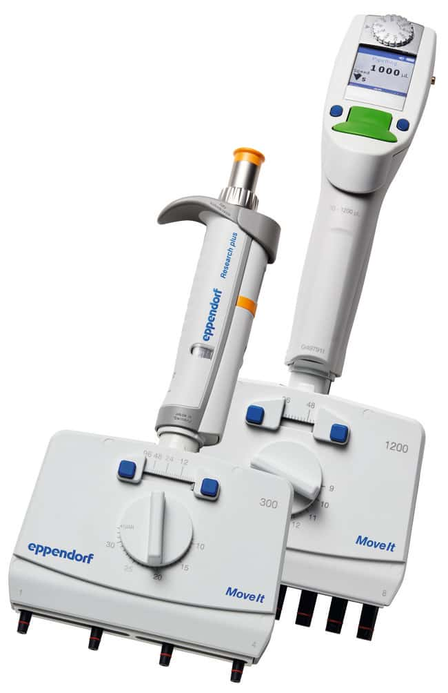 Eppendorf™ Xplorer™ Plus Move It™ Adjustable Spacing Multichannel Pipettes