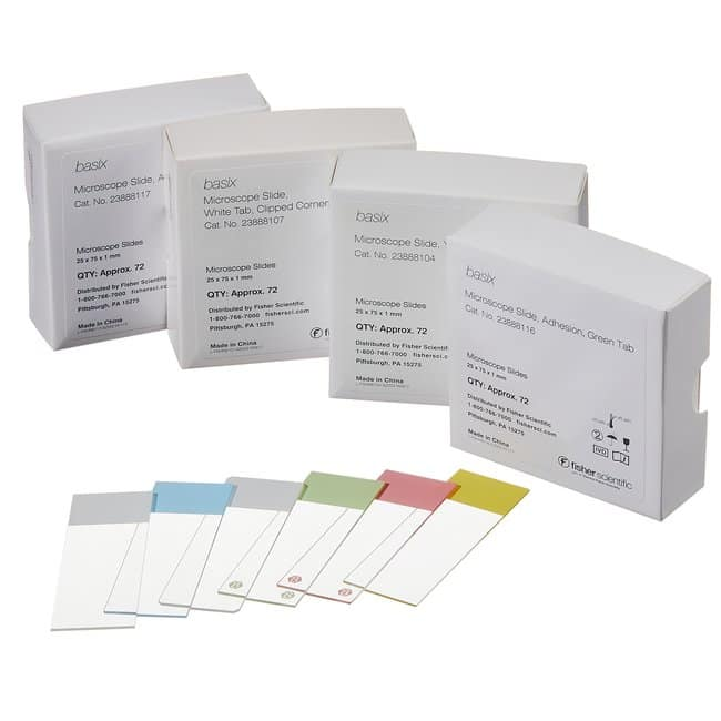 Fisherbrand Basix Non-Adhesion Slides White; 90 degrees:Microscopes, Slides