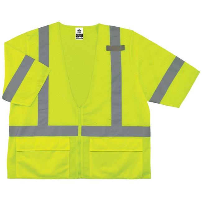 Ergodyne GloWear 8320Z Type R Class 3 Standard Vest Lime; XX-Large/XXX-Large:Gloves,