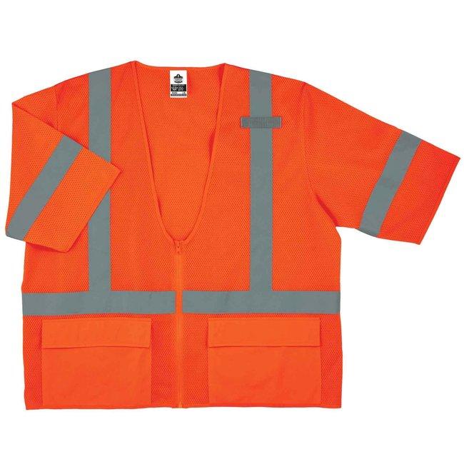 ErgodyneGloWear 8320Z Type R Class 3 Standard Vest Orange; 4X/5X-Large:Personal