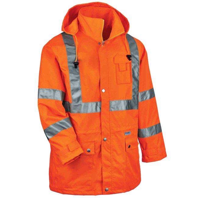 ErgodyneGloWear 8365 Type R Class 3 High Visibility Rain Jacket:Personal