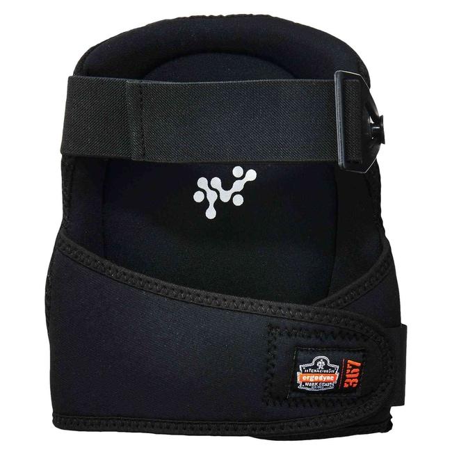 ErgodyneProFlex 367 Round Cap Lightweight Gel Knee Pads Color: Black:Personal