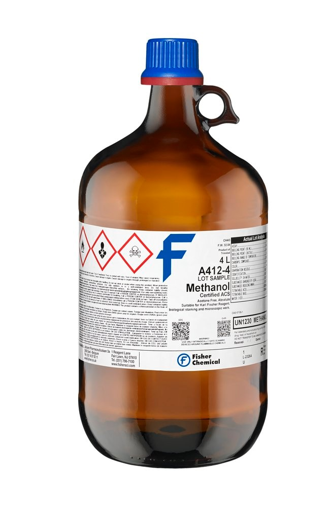Methanol (Certified ACS), Fisher Chemical™