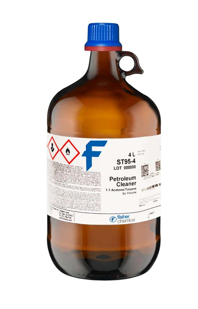 Petroleum Cleaner or Gum Solvent, 50/50 Toluene and Acetone, Fisher  Chemical - Diagnostic Tests and Clinical Products, Chemicals