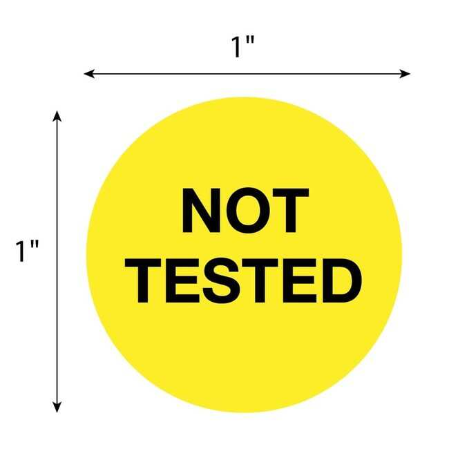 FisherbrandNot Tested Circle Label Yellow:Facility Safety and Maintenance