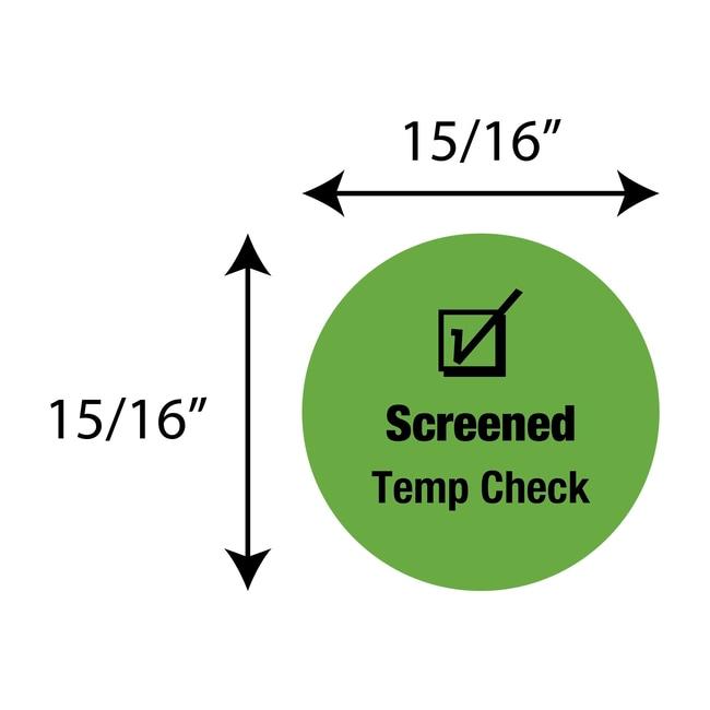 FisherbrandScreened Temp Check Circle Label Green:Facility Safety and Maintenance